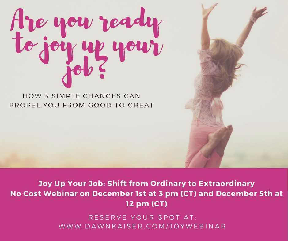 Upcoming Webinar with Dawn Kaiser