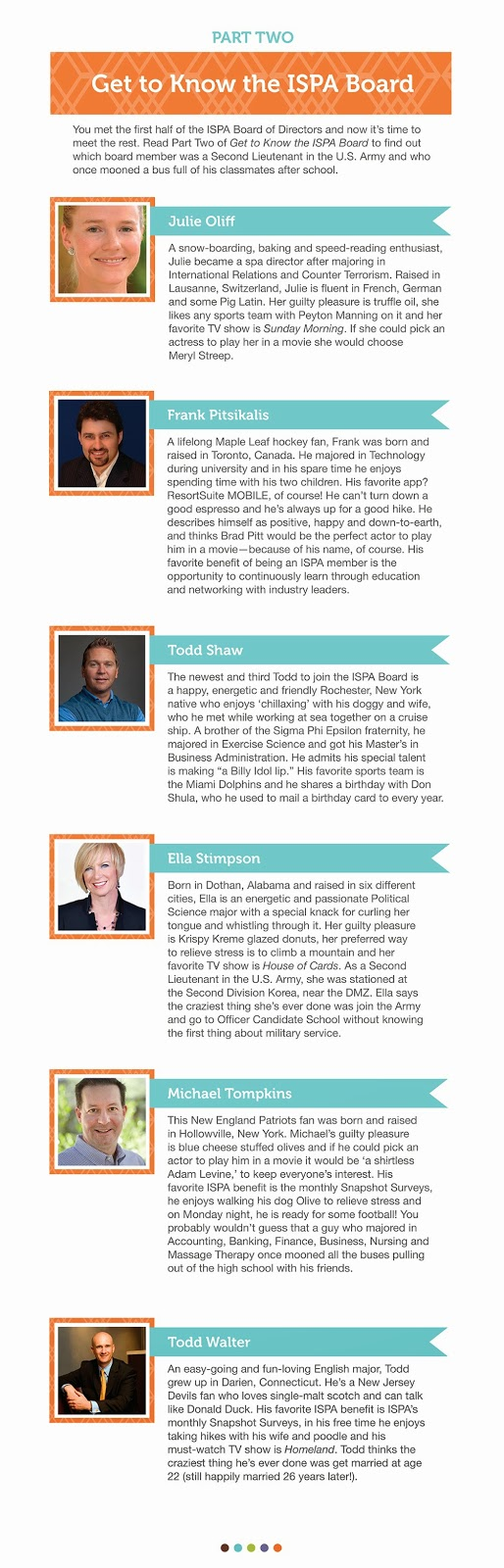 Get to Know the ISPA Board -- Part Two